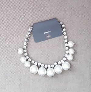 Express Stone White Beaded Necklace